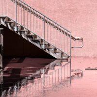 Staircase at King Tide, Hollywood, Florida