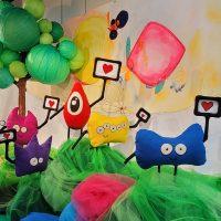 Hi and Hello World – Mix media art installation
