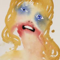 TH Nadine Faraj 2015 This Is Not A Face That Lies 12 x 9 inches